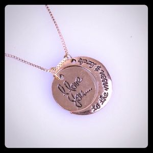 Jewelry - I love you to the moon and back Necklace